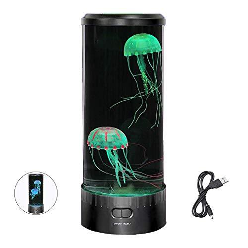inshias kwalle lamp voor aquarium, nachtlampje, USB-oplading, met 6 veranderende kleuren, decompressie, creatieve cadeaus voor kinderen en volwassenen