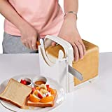 Bread Slicer Toast Slicer Adjustable Cutting Guide For Homemade Bread Bagel Roast Cake Sandwish Loaf Slicing Cutter Mold Compact Foldable Handed Bread Maker Tool with 4 Slice Thickness
