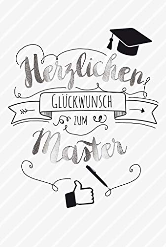 Karte Master, Master bestanden Karte, Glückwunschkarte zum Master, Karte inkl. Umschlag, DIN A 6, Motiv: Master