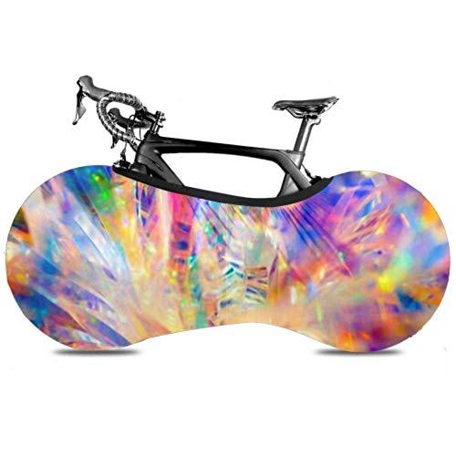 Cubierta de la rueda de bicicleta Radiante abstracto Festivo Felices fiestas Telón...