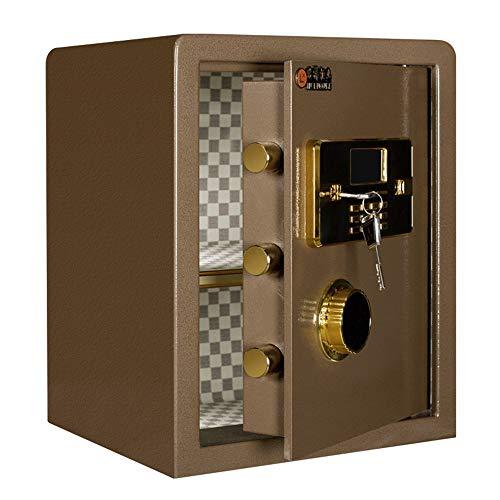JTRHD Caja de Seguridad fácil de Instalar Casa Alta antirrobo Huella Digital Caja Fuerte por Dinero en Efectivo (Color : Marrón, Size : One Size)