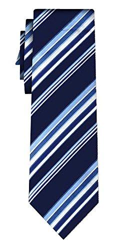 Cravate rayée fine stripe navy