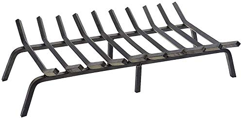 Read About Htanch Fireplace Log Grate 21 inch Wide Heavy Duty Solid Steel for Indoor Chimney Hearth ...