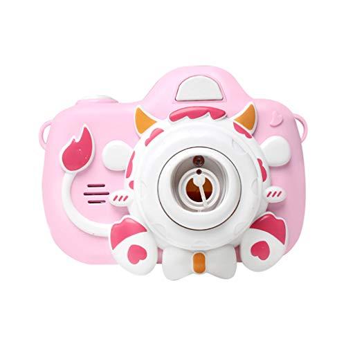 TIREOW One-Key Automatisch Kamera Musik Elektrische Blasenmaschine Sprudelmaschine Spielzeug mit Leichter Musik Geschenk für Kinder Jungen Mädchen (C)