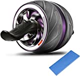 Jueachy Roue Abdominale Abdo AB Wheel Roller avec Tapis épais pour Genoux, AB Carver Pro Roulette Abdominaux pour le Fitness et l'Entraînement des Abdominaux / Muscles de l'épaule / Bras / Cuisses