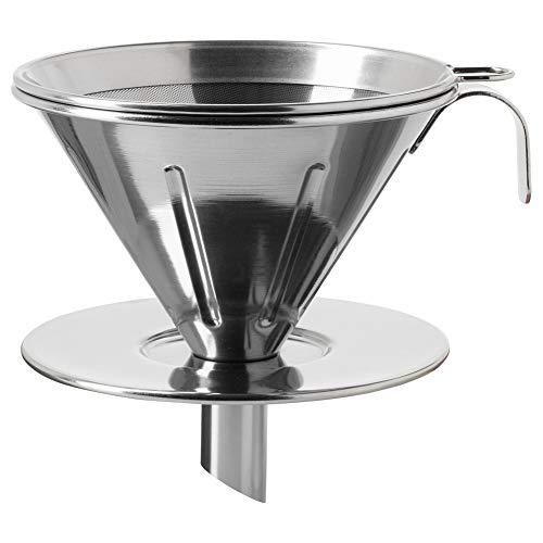 Overst - Juego de 3 filtros de metal para café (acero inoxidable)