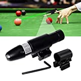 Pool Cue Láser Síght, Billiard Training Equipment Practice Aid Corrector, Pool Snooker Red/Green Dot Cue Sight, Beginners Precise Shots Guide to Auxiliary Collimation (Green Light)