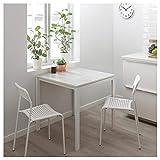 Mesa BestOnlineDeals01 MELLTORP de mármol blanco, 75 x 75 cm, duradera y fácil de cuidar. Hasta 4 asientos. Mesas de comedor. Mesas y escritorios. Muebles. Respetuoso con el medio ambiente.