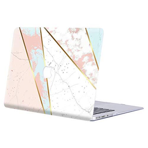 AJYX Funda MacBook Pro 13 2016/2017/2018/2019, Carcasa Rígida Protector de Plástico Cubierta para MacBook Pro 13 Pulgadas con/sin Touch Bar (Modelo: A1708/A1706/A1989/A2159) - Mármol Rosa