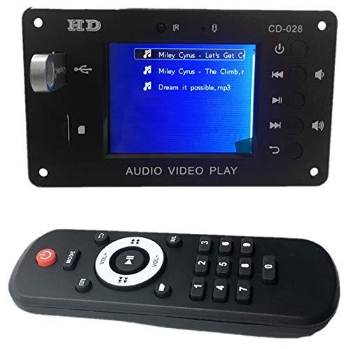 JVSISM Placa Decodificadora MP3 5,0 Receptor de Audio EstéReo Reproductor de VíDeo WAV Ape DecodificacióN FM Radio USB TF para Amplificador de Coche