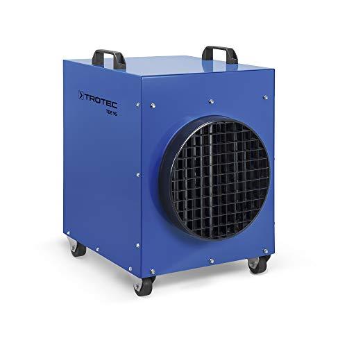 TROTEC TDE 95 Elektroheizer Bauheizer Heizgerät mit 18 kW Heizlüfter Hallenheizung Zeltheizung mit Hammerschlaglackierung