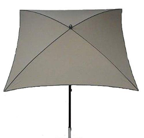 PEGANE Parasol centré, Tissu dralon Coloris Taupe - Dim : 210X130/4 cm