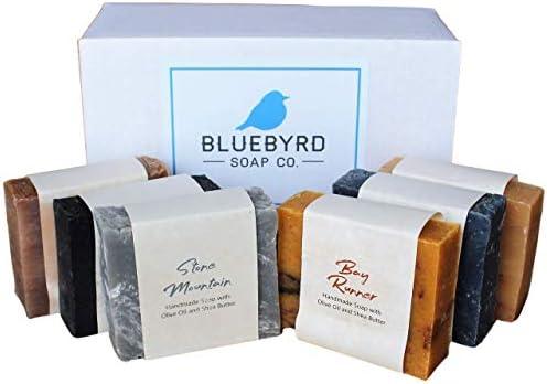 Bluebyrd Soap Co Artisan 6 pack Handmade Mens Soap Bars Masculine Fragrance Scented Bar Soap product image