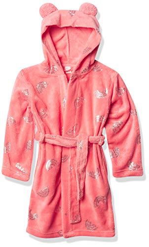 Petit Lem girls Girl Knit Bathrobe, Coral, 6X US