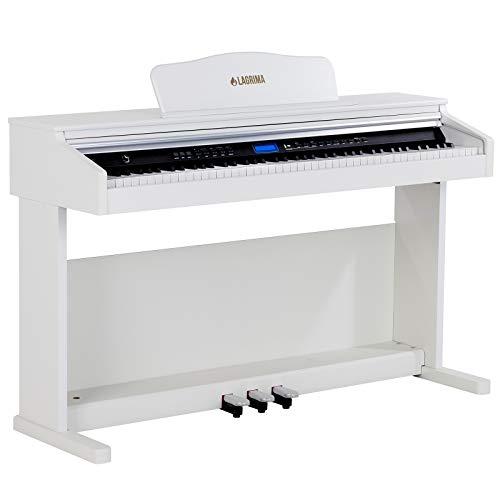 LAGRIMA White Digital Piano with Standard Key, 88 Key Electric Piano...