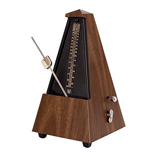 Antikes mechanisches Metronom mit Pfirsichholz-Imitatmuster-Optik, für Klavier, Gitarre, Geige und andere Musikinstrumente braun (teak)