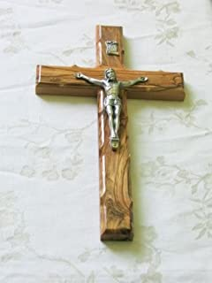 Wall Cross Crucifix Olive Wood Olivewood Bethlehem Holy Land Jerusalem 10 Inches