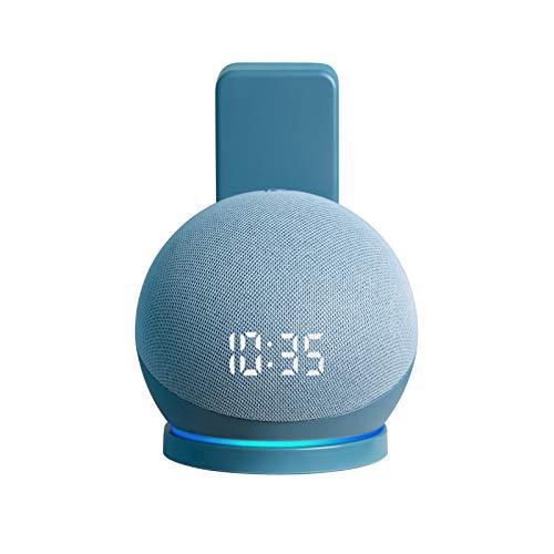 shinar Echo Dot 4a generazione di supporto da parete – accessori aggiornati Dot 4 con gestione dei cavi, Premium salvaspazio Dot 4th Gen Stand Hanger Holder (1-Pack, Twilight Blu)