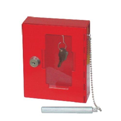 Notschlüsselkasten mit Glasbruchhammer, rot