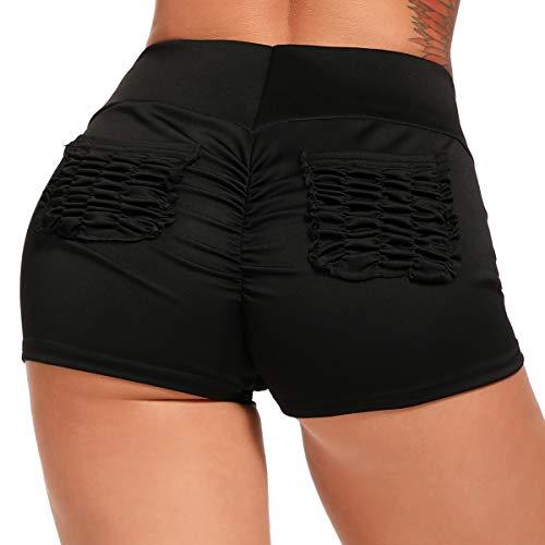 INSTINNCT Short de Sport Femme Legging Court Sexy Avec Poches Plissé Pantalon...