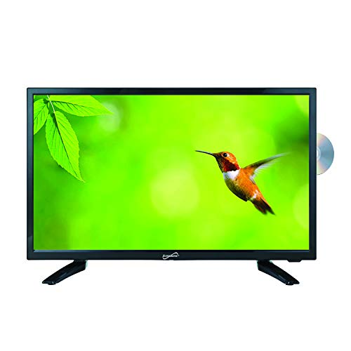 """SuperSonic SC-1912 LED Widescreen HDTV 19"""", Built-in DVD Player with HDMI, USB, SD & AC/DC Input: DVD/CD/CDR High Resolution and Digital Noise Reduction"""