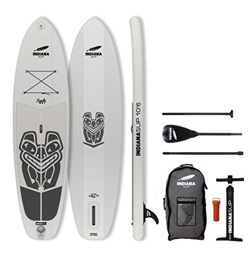 Indiana 10'6 Family Pack GREY with 3-piece Fibre/Composite Paddle