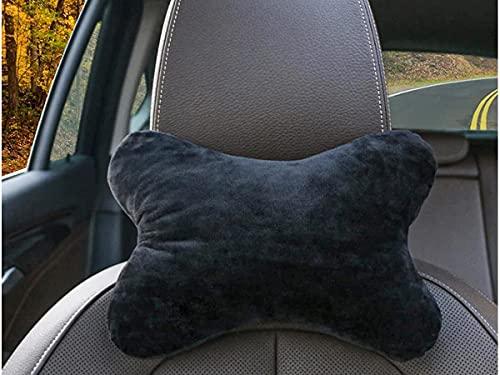 CARALL 2 Stück Kissen für Gaming-Stuhl, Kopfstütze für Autos, Reisekissen, für Kopfstütze und Nacken (schwarz)