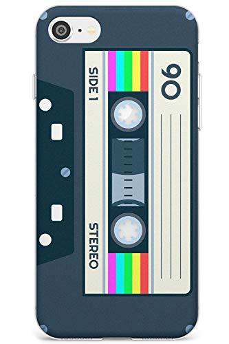 Case Warehouse Retro Kassette - Rainbow Slim Hülle kompatibel mit iPhone 7/8 / SE TPU Schutz Light Phone Tasche mit Mixtape Jahrgang Musik Alte Schule 80S