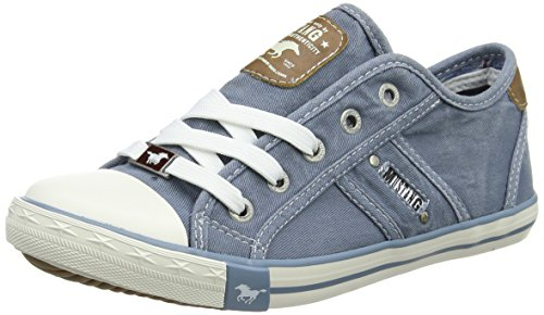 MUSTANG Damen 1099-302-807 Sneaker, Blau (Himmelblau 807), 38 EU