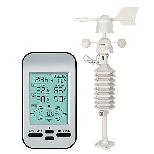 Harwls 433 MHz draadloos weather station klok wind speed richting sensor temperatuur