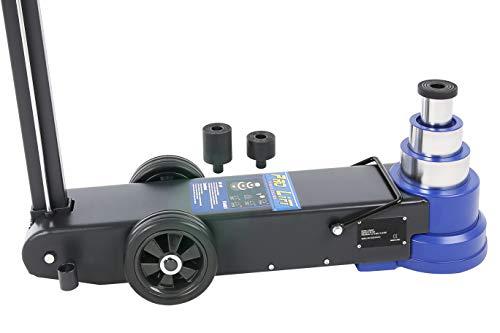 Pro-Lift-Werkzeuge Rangierwagenheber pneumatisch Teleskop 50t / 30t / 15tDruckluft-Stahl-Wagenheber 3-stufig Pneumatikantrieb Werkstatt 50t/30t/15t professionell Druckluftheber LKW PKW