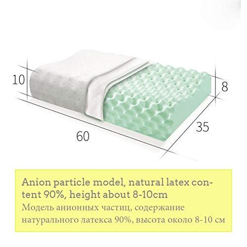 ASDZ Elegant Design Schlafen Bett Kissen Nackenmassage Naturlatex Erscheinungsdruckkissen for Wohnzimmer Antistatische (Color : 1602)