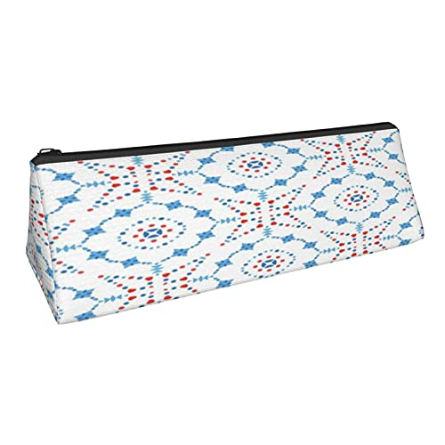 Flower-Pattern-Boho Printed Triangle Pen Pencil Case Makeup Bag Storage Bag Brush Cosmetic Purse Zipper Pouch Students