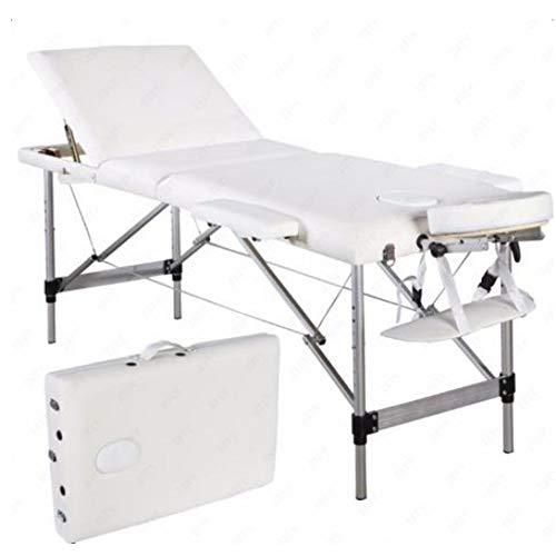 Best Color with White 3 Fold Portable Massage Table Facial #CGTY