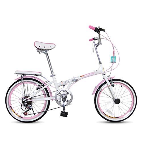 Axdwfd Infantiles Bicicletas Bicicleta Plegable Masculina Y Femenina Adulta Ultraligera Pequeña Bicicleta De 20 Pulgadas Velocidad Variable De 20 Pulgadas