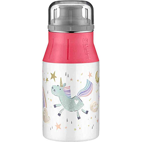 alfi Unisex Jugend 'elementBottle Kids' Trinkflasche, Regenbogen, 0.4 L