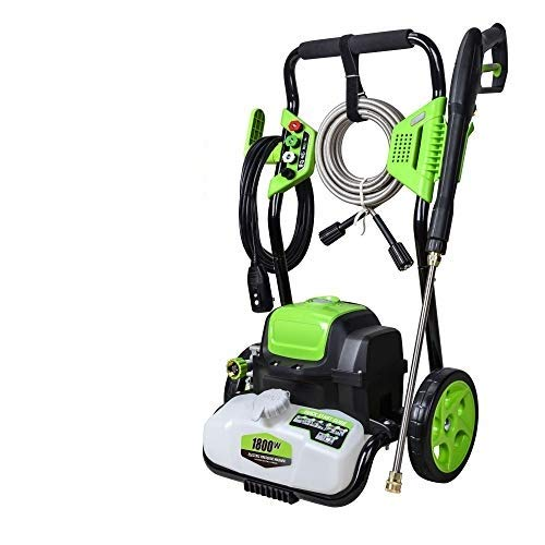 PowRyte Elite Electric Power Washer 3800PSI,2.6GPM,Cold Water Washer with Foam Cannon and 4 Quick-Connect Spray Nozzles,Pressure Washer with 35 Ft Power Cord(Green)
