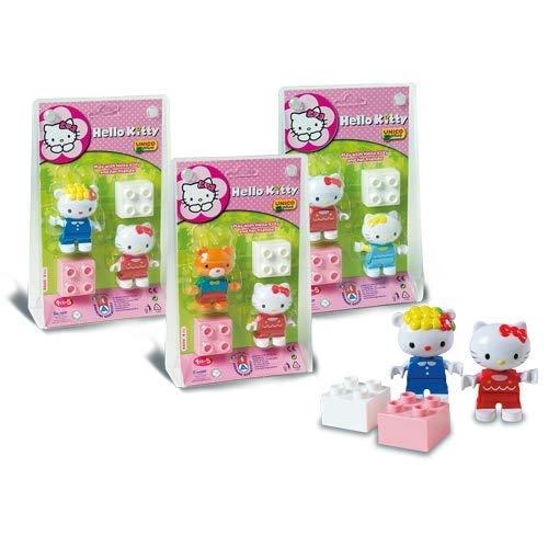 Unicoplus 8660-00HK - Personaggi Hello Kitty con Mattoncino, Modelli assortiti, 1 pezzo