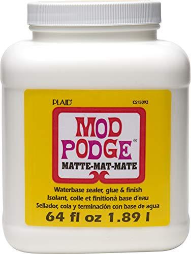 Mod Podge Matt 64 Oz, Synthetisches Material, Weiss, 12.7 x 12.7 x 16.5 cm