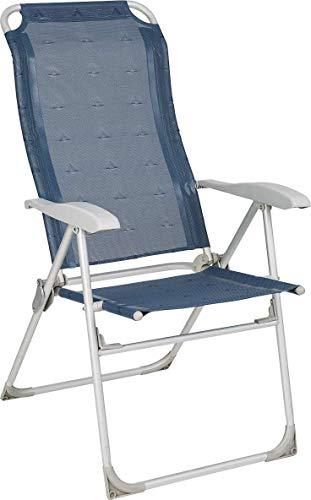 BERGER Klappsessel Comfort, blau, Aluminium, Rückenlehne 5-Fach verstellbar, Belastbar bis 120 kg