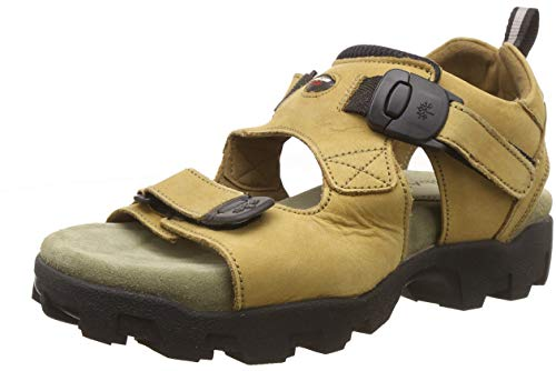 Woodland Men's Camel Leather Sandals-8 UK/India (42 EU) (GS 4011CMA)