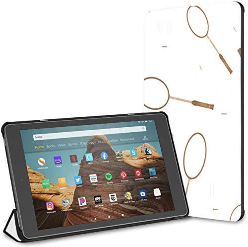 Estuche para Raqueta de bádminton y Raqueta de Tenis Fire HD 10 Tablet (9.a / 7.a generación, versión 2019/2017) Fire HD Tablet 10 Estuche para Kindle Auto Wake/Sleep para Tableta de 10.1 Pulgadas