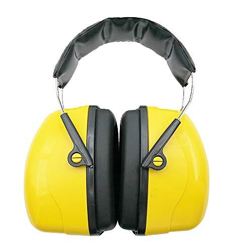 Kanqingqing Oorverdedigers Serie Over-the-Head Oordopjes Een maat Past op de meeste hoofdtelefoons, Enkele maat Voor de meeste, Zwart/geel voor gehoorbescherming Schieten Bouw Yard