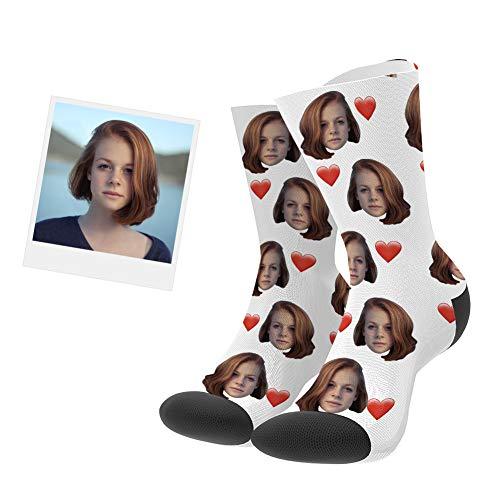 VEELU Calcetines Personalizados Foto Calcetín Original Dibujos Estampados Alto
