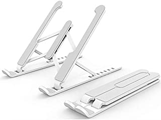 LATEST MODEL Laptop Foldable Notebook Stand, Portable Computer Mount Stand with 6 Levels Height Adjustment Compatible with...