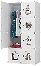 KOUSI Kid Clothes Storage Organizer Baby Dresser Kid Closet Baby Clothes Storage Cabinet for Kids Room Baby Wardrobe Toddler Closet Childrens Dresser,18