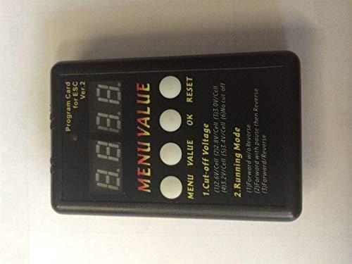Monstertronic Programmierkarte für Brushless Set 1:8 - 1:10 Sensorlos von MT