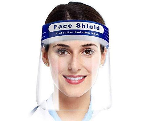 【日本在庫あり/国内出荷】【1枚】フェイスシールド (Face Shield) フェイスガード 保護シールド クリア 弾性バンド 軽量 調整可能 プラスチック製 透明シールド 唾液 防砂 防風 防護シールド シールドバイザー保護フィルム (1)