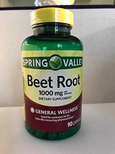 Spring Valley Beet Root 1000mg dietary supplement 90 capsules