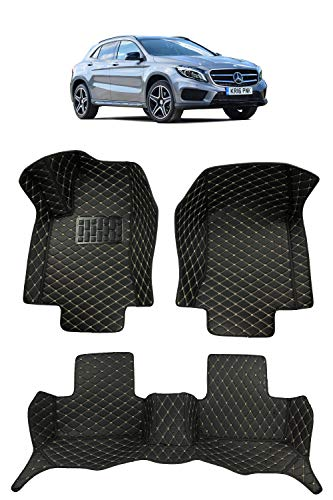 Custom Fit [Made in USA] All Weather Heavy Duty Full Coverage Floor Mat Floor Protection [Front and Rear] for 2015 2016 2017 2018 2019 2020 Mercedes Benz GLA Class GLA250 - Black Single Layer